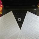 la fourniture d'un manuscrit